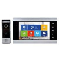 Interfon video inteligent PNI SafeHome PT720MW WiFi HD, P2P, monitor interior, aplicatie dedicata Tuya Smart