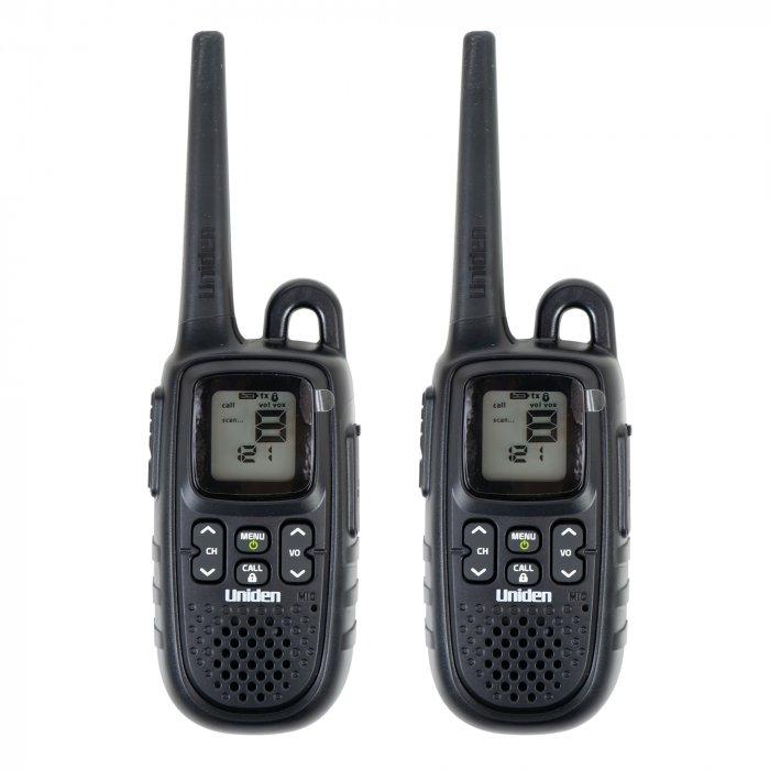 Statie radio portabila Uniden PMR446-SPL-2CK, 8 CH, 38 CTCSS, 83 DCS, 0.5W, set cu 2 buc