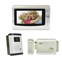 Kit interfon video cu 1 monitor PNI DF-926 cu ecran LCD de 7 inch si yala electromagnetica H1085A