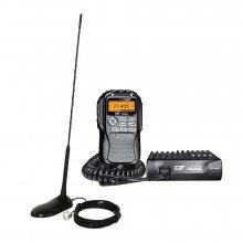 Kit statie radio CB CRT Mike + Antena PNI Extra 45 cu magnet