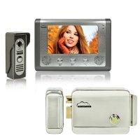 Kit Interfon video SilverCloud House 715 cu ecran LCD de 7 inch si Yala electromagnetica SilverCloud YR300