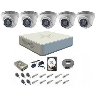 Sistem supraveghere complet 5 camere Hikvision DOM Turbo HD 1080P