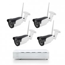 Sistem supraveghere complet exterior Wireless IP 4 canale, 2 Mp, IR 30M