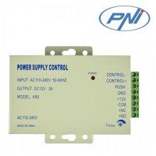 Sursa de tensiune cu temporizare PNI K80 pentru yale si control acces