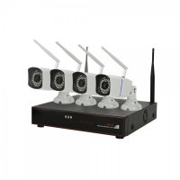 Kit supraveghere wireless PNI House WiFi 400 NVR si 4 camere, 1.0MP