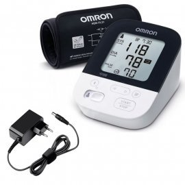 Tensiometru digital de brat OMRON M4 Intelli IT cu Bluetooth, ADAPTOR PRIZA INCLUS,  manseta mare IntelliWrap, detectie aritmie