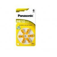 Baterii Zinc-Aer Panasonic PR10 pentru aparatele auditive - 6 buc.