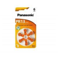Baterii Zinc-Aer Panasonic PR13 pentru aparatele auditive - 6 buc.
