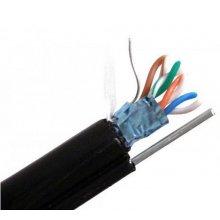 Cablu FTP de exterior autoportant cu sufa CAT6 de cupru ROLA 100 m