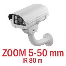 Camera varifocala AHD cu zoom 5-50 mm, rezolutie 720P, IR 80m
