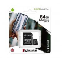Card MicroSDCS2 Kingston, 64GB, Canvas Canvas Select Plus Android A1, cu adaptor, 64Gb, Clasa 10 - UHS-1 U1