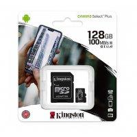 Card MicroSDXC Kingston Canvas Select Plus, cu adaptor, 128 Gb, Clasa 10