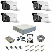 Sistem supraveghere complet 1080P Hikvision Turbo HD EXT 4 IR 40 m