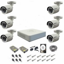 Kit complet supraveghere 720P Hikvision Turbo HD Ext 6  IR 20 m