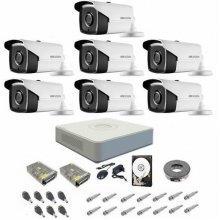 Kit complet supraveghere 720P Hikvision Turbo HD Ext 7 IR 40 m