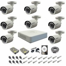 Kit complet supraveghere 720P Hikvision Turbo HD Ext 8  IR 20 m