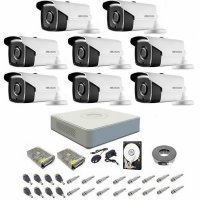 Sistem supraveghere complet 1080P Hikvision Turbo HD EXT 8 IR 40 m