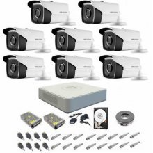 Kit complet supraveghere 1080P Hikvision Turbo HD Ext 8  IR 40 m