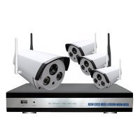 Sistem supraveghere complet exterior Wireless IP 4 canale, 1 Mp, IR 40M