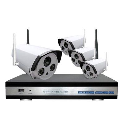 Sistem supraveghere Wireless de exterior 1 Mp IP 4 canale, IR 40M