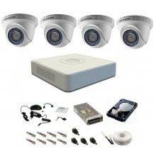 Sistem supraveghere complet 4 camere DOM Hikvision Turbo HD 1080P