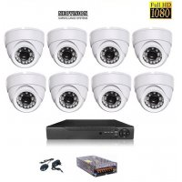 KIT SUPRAVEGHERE INTERIOR 8 CAMERE DOM AHD 2 MP FULL HD