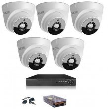 KIT SUPRAVEGHERE INTERIOR 5 CAMERE DOM AHD 2 MP FULL HD