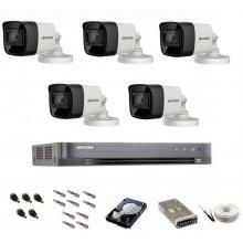 Sistem de supraveghere Hikvision Turbo HD, inregistrare 4K / 8,3 Mp, 5 camere IR 30 m
