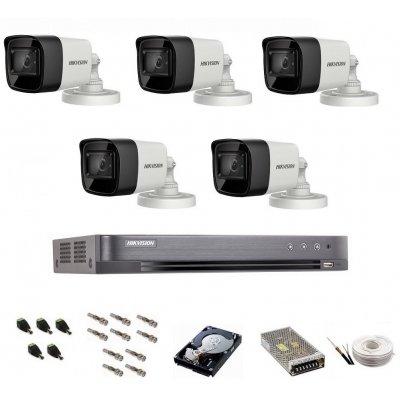 Sistem de supraveghere Hikvision Turbo HD, 4K / 8,3 Mp, 5 camere IR 30 m