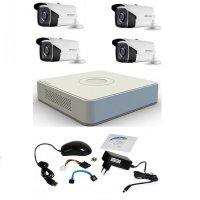 Kit supraveghere Hikvision Turbo HD 1080P cu 4 camere IR 40 m
