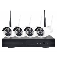 Sistem supraveghere complet exterior Wireless IP 4 canale, 1 Mp, IR 30M
