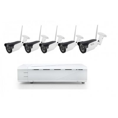 Sistem supraveghere 5 camere Wireless de exterior 2 Mp IP, NVR 8canale, IR 30M