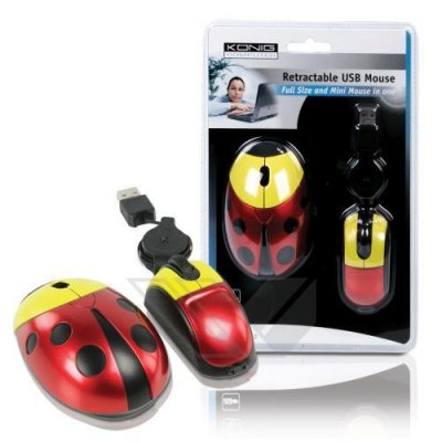 Mouse optic tip Buburuza retractabil USB 2.0 Konig