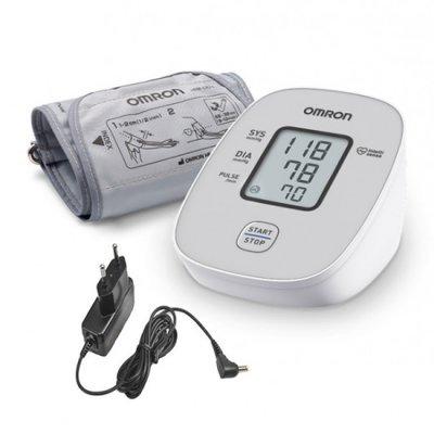 Set tensiometru de brat Omron M2 Basic, validat clinic, manseta 22-32cm, oscilometric, Adaptor Priza Inclus