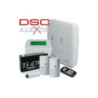 SISTEM ALARMA ANTIEFRACTIE WIRELESS DSC KIT ALEXOR