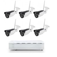 Sistem supraveghere 6 camere Wireless de exterior 2 Mp IP, NVR 8canale, IR 30M