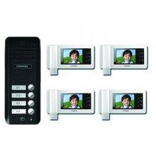 Kit videointerfon pentru 4 familii COMMAX