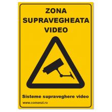 Sticker autocolant atentionare zona supravegheata video