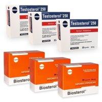 Pachet Megabol Biosterol 750 mg, 90 cps plus Testosterol 250, 90 cps, stimulare testosteron si hormon de crestere, inhibare estrogen