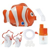 Aparat aerosoli RedLine Healthy Fish, 3 ani garantie, nebulizator cu compresor