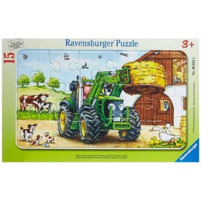 Puzzle tractor la ferma 15 piese Ravensburger