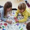 Covor joaca si organizator jucarii de Colorat